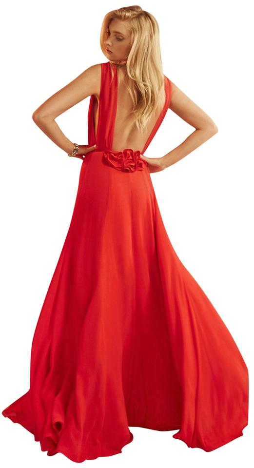 0897f737 Reformation Red Anne Long Formal Dress Size 4 (S) - Tradesy