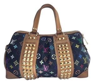 Louis Vuitton Murakami Monogram Azur Caviar Shoulder Bag