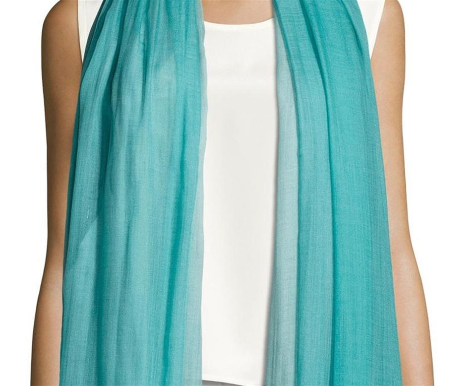 3a146ce44bd4 Blue Cashmere Scarf: Loro Piana Blue Cashmere Stole Long In Teal Sky Scarf /Wrap