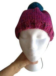 Other Pink Tweed hat with Pom Pom
