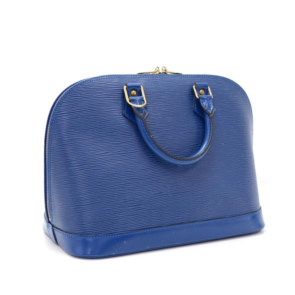 Louis vuitton blue epi leather alma hobo bag tradesy for Louis vuitton miroir alma bag price