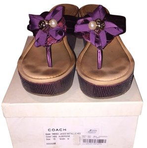 Coach Aubergine/purple Sandals