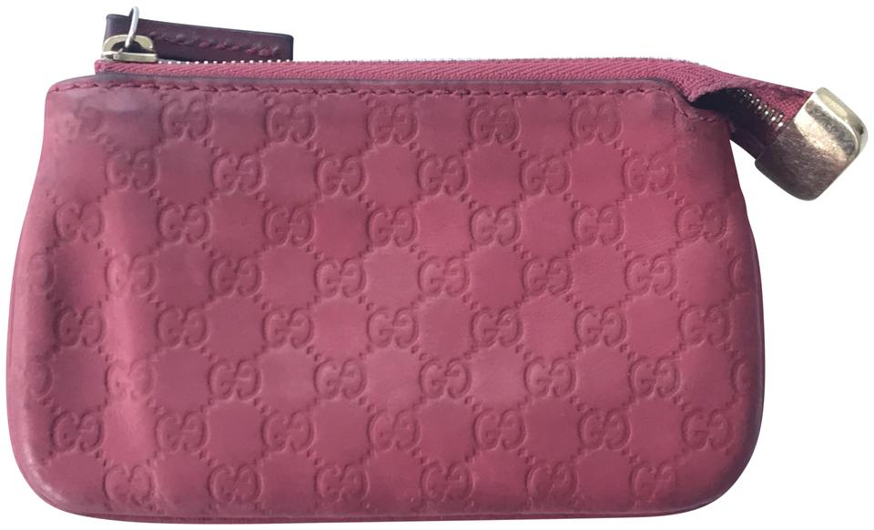 911e1627ede Gucci Berry Red Micro Guccissima Key Coin Pouch Wallet - Tradesy
