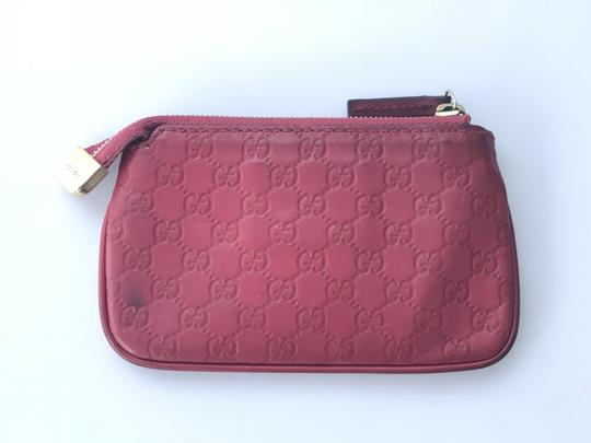 c1c169a35df1 Gucci Berry Red Micro Guccissima Key Coin Pouch Wallet - Tradesy