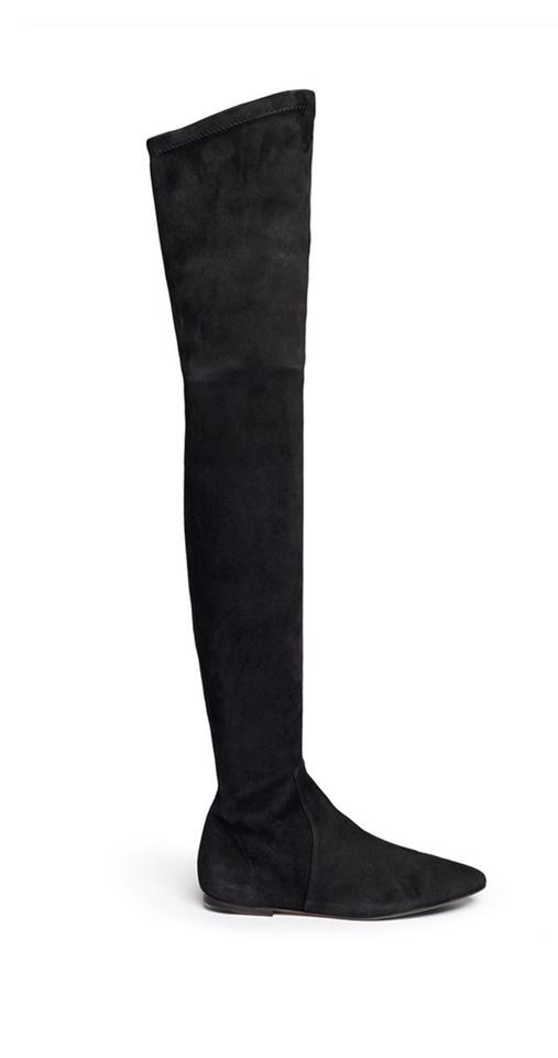 03af8ea0c81 Isabel Marant Black Etoile Brenna Thigh High Suede Boots Booties ...