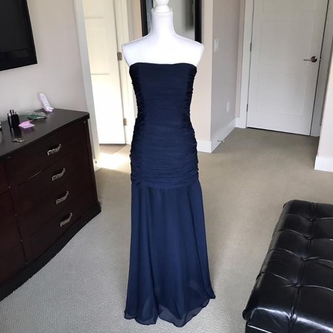 Item - Navy Blue Collection Gown Formal Bridesmaid/Mob Dress Size 4 (S)