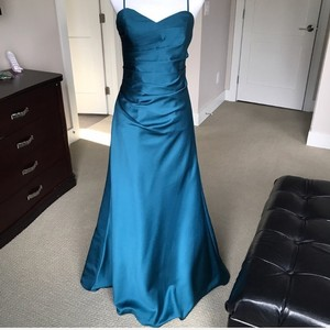 Alfred Angelo Tealness Gown Formal Bridesmaid/Mob Dress Size 4 (S)