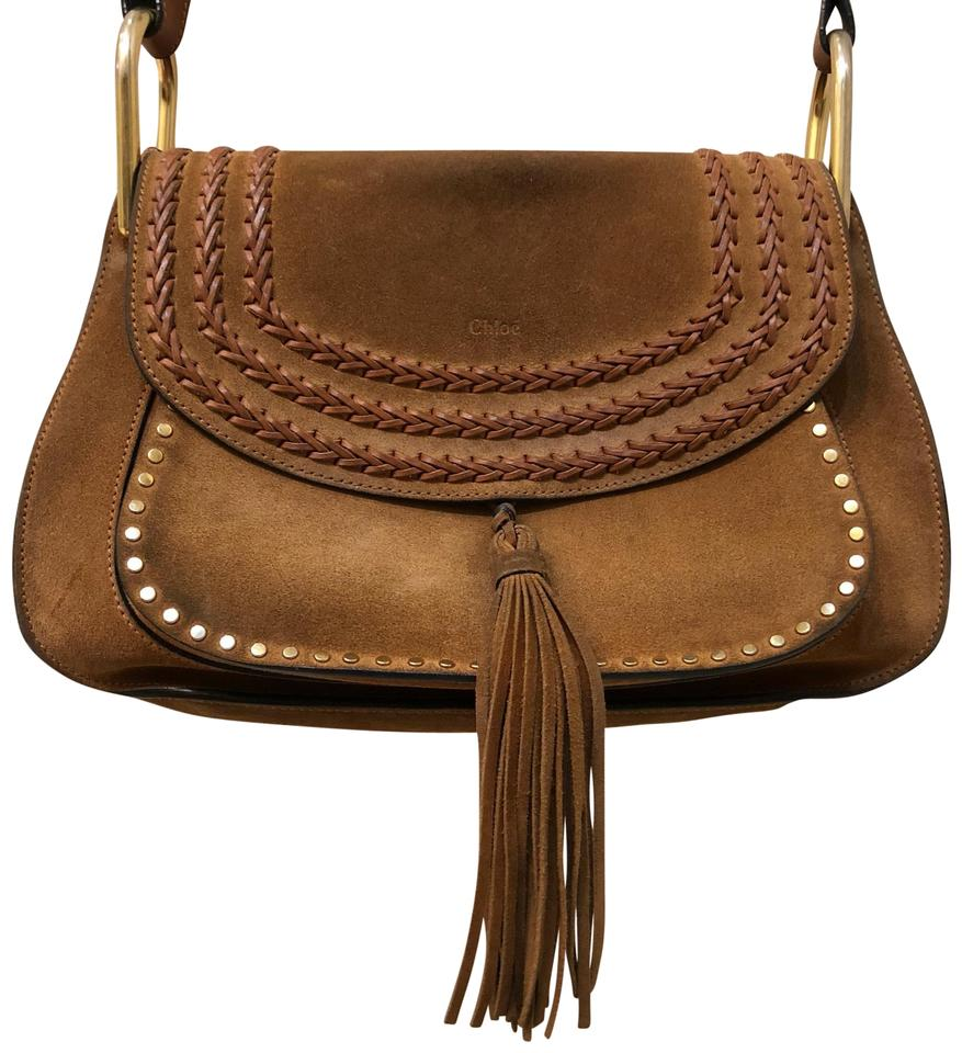07f3072254 Chloé Hudson Shoulder Brown Suede Leather Cross Body Bag - Tradesy