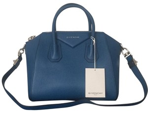 f5903b4b51 Added to Shopping Bag. Givenchy Antigona Satchel Tote in Blue. Givenchy  Antigona Small Satchel Blue Leather Tote