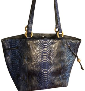 Python Snake Tote in blue