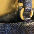 Python Snake Tote in blue Image 1
