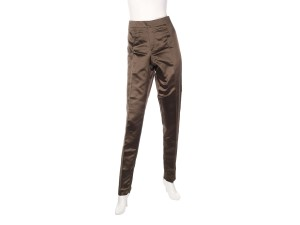 Gucci Silk Dressy Slacks Gc.el1018.04 Trouser Pants Brown