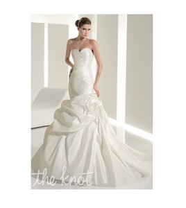 Pronovias Ivory 6234 Destination Wedding Dress Size 12 (L)