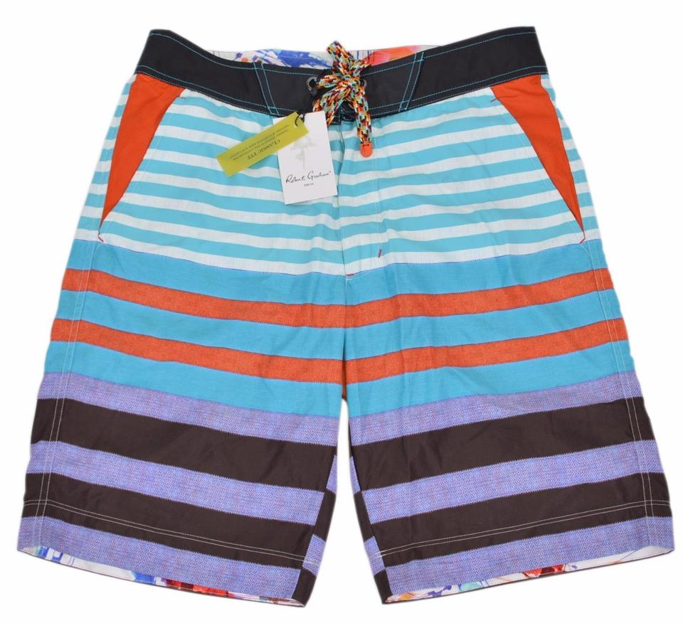 cd64a69c26e6f Robert Graham Inman Line New Classic Fit Board Shorts Trunks 30 One-piece  Bathing Suit