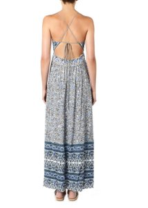 Indian Floral - Purple and Grey Maxi Dress by Rebecca Taylor Maxi Backless