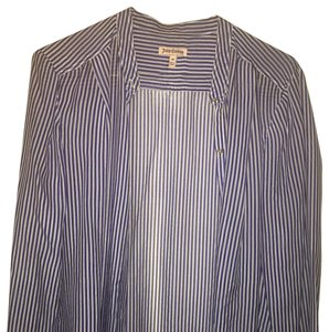 Juicy Couture Button Down Shirt Blue and White