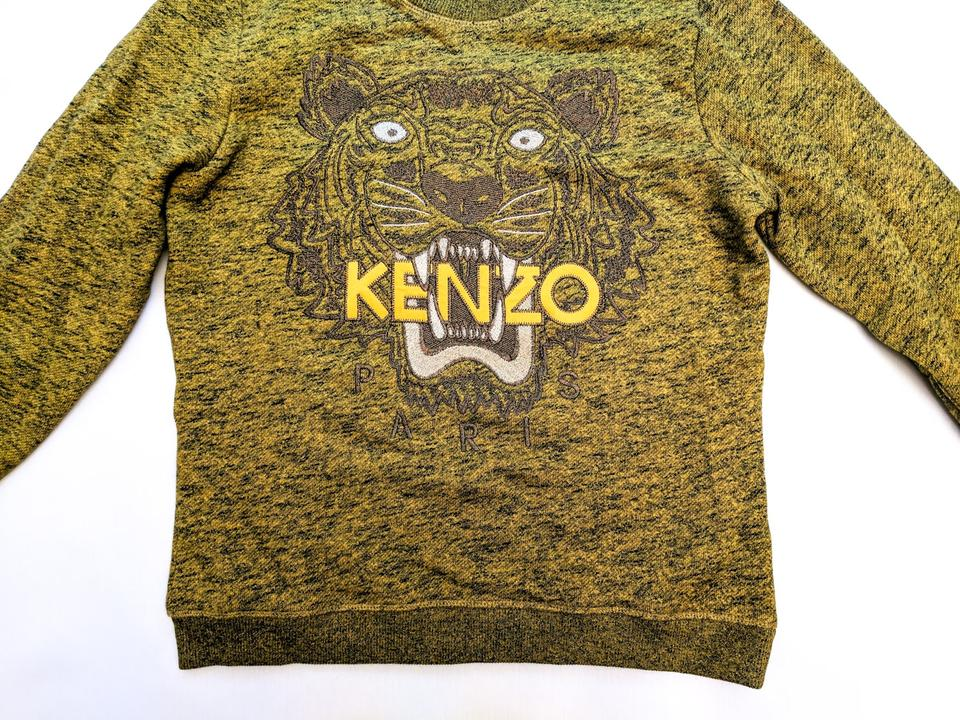 Kenzo Icon Tiger Logo Green Gold Sweater - Tradesy d7333ff24fea
