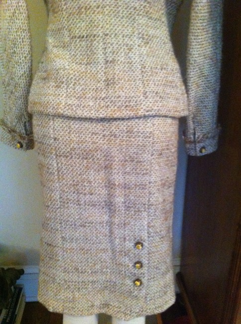 Chanel Chanel Brown/Beige Skirt Suit