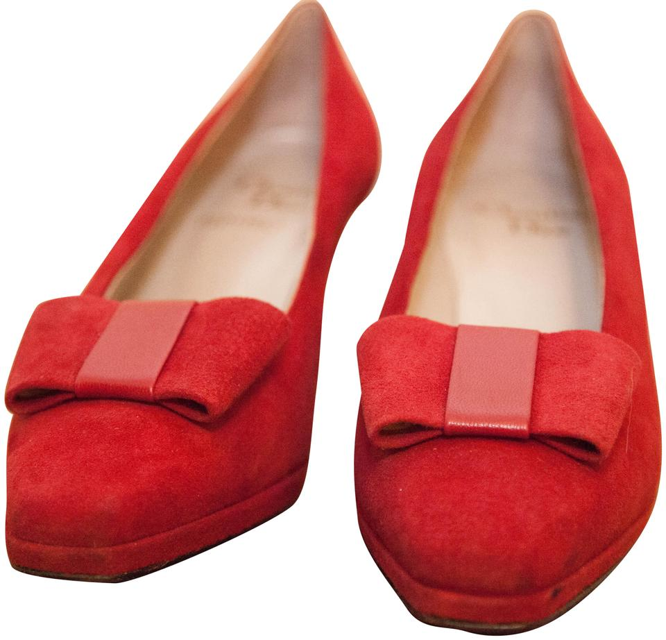 85908e4b7f3 Dior Red Vintage Suede Pumps Size EU 38.5 (Approx. US 8.5) Regular ...