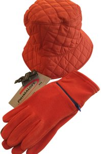 Lands' End New Lands End Quilted Hat and Lauer Microfleece Touch Sensor Gloves