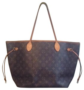 Louis Vuitton Neverfull Azur Ebene Speedy Damier Tote in Brown