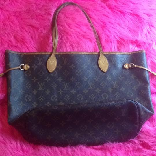 Louis Vuitton Neverfull Azur Ebene Speedy Damier Tote in Brown Image 1