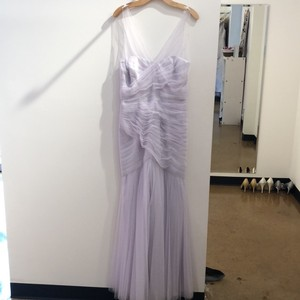 Monique Lhuillier Lavendar Tulle 450247 Formal Bridesmaid/Mob Dress Size 12 (L)