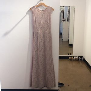 Watters Blush/Bronze Bella Lace 5220 Formal Bridesmaid/Mob Dress Size 10 (M)