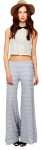 Free People Wide Leg Pants Light Gray