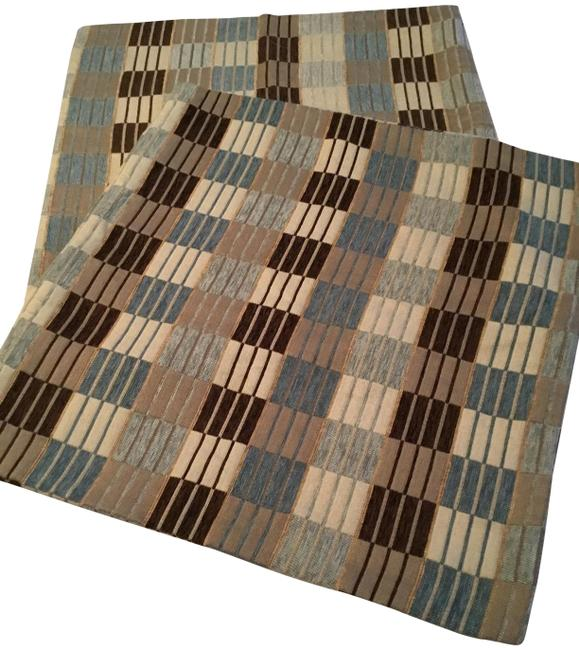 Item - Blue Brown Multi Throw Pillow Covers