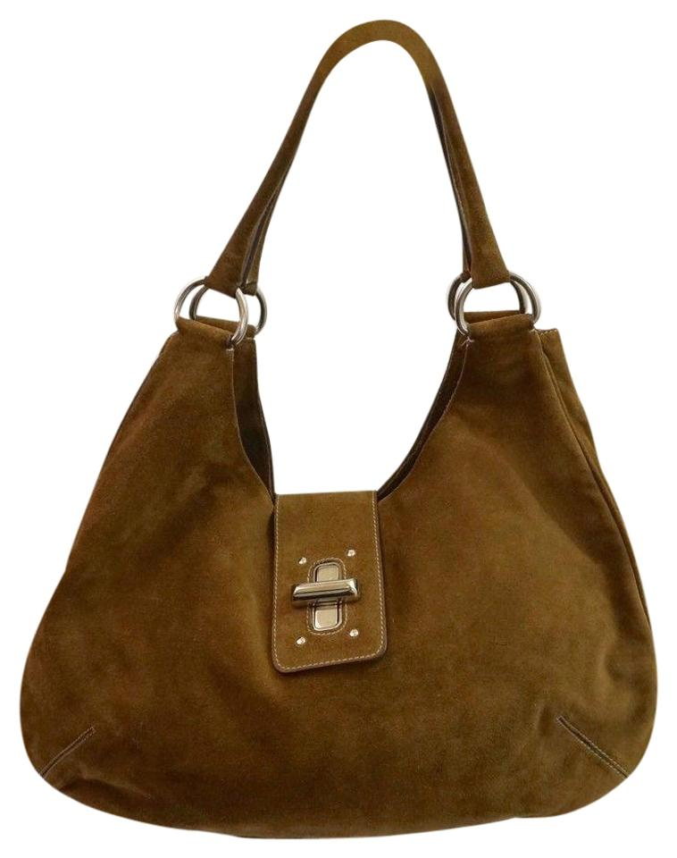 9e7c08af5 Prada With Buckle Brown Suede Leather Hobo Bag - Tradesy