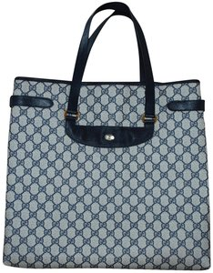 Gucci Made In Italy Gg Monogram Vintage Tote in Blue