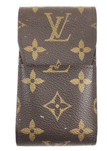 Louis Vuitton #15672 Monogram Car Key Bill credit business card Cigar Holder Wallet