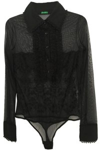 United Colors of Benetton Lace Leotard Top Black