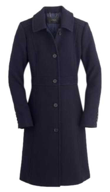 Item - Navy Italian Double-cloth Wool Lady Day with Thinsulate® Coat Size 0 (XS)