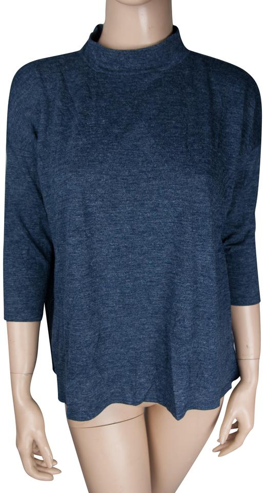 9c34103e97b Ann Taylor LOFT Blue New Shirt Turtle Neck Womens Extra Small Blouse ...