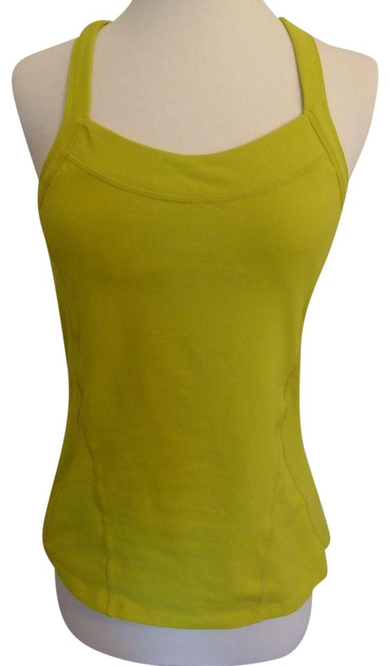 fbd1bc51a Athleta Lime Green Sports Yoga with Shelf Bra Tank Top Cami Size 4 ...