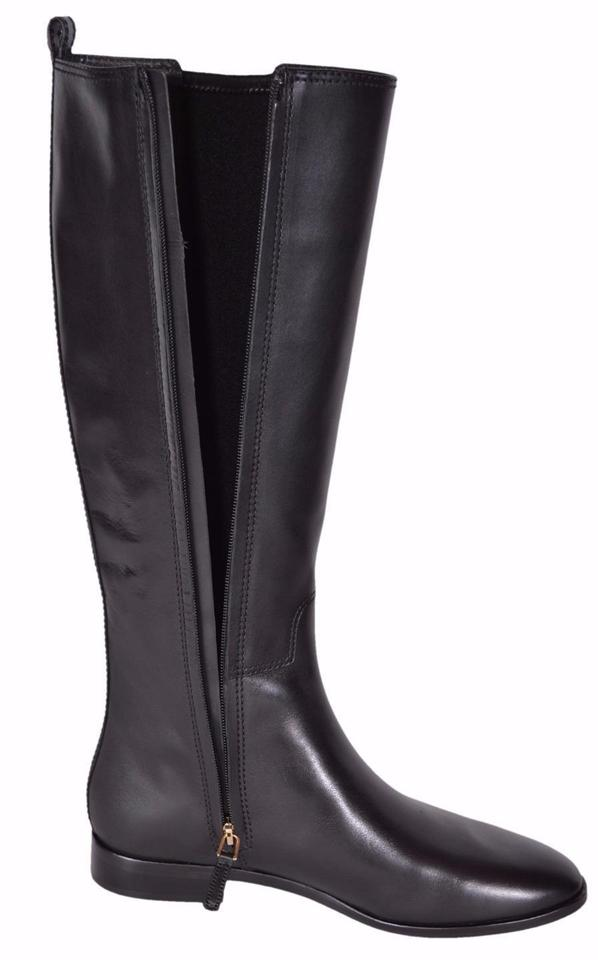 f3bb10ab83d Tory Burch Leather Knee High Riding Black Boots Image 10. 1234567891011
