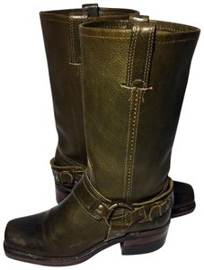 Frye 77250 Belted Women Size 6 Motorcycle Size 6 Green Boots