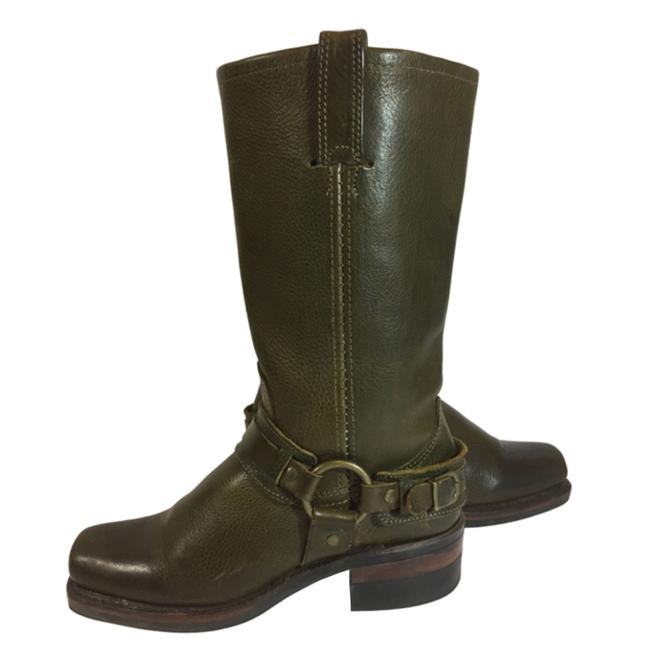 Item - Green 77250 Belted Harness Leather Motorcycle Women's Boots/Booties Size US 6 Regular (M, B)