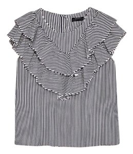 Zara Top grey/white