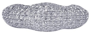 NY Collection Real Diamond Pave Wedding Custom Made Dome Band Womens Unique 14K Gold