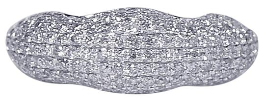Preload https://img-static.tradesy.com/item/22571327/ny-collection-white-womens-diamond-pave-dome-wedding-band-14k-gold-081ct-ring-0-1-540-540.jpg