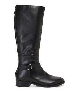 Cole Haan Black Belted Riding Boots