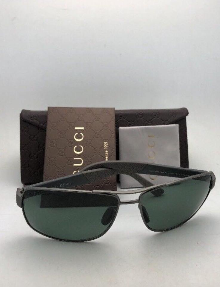 bd6df2719e42 Gucci Polarized Sunglasses Gg 2234 S 8ebuc 63-14 Matte Ruthenium Grey W