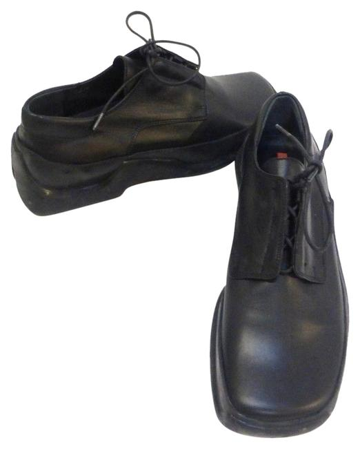 Item - Black Leather Oxfords 6 It Sneakers Size EU 36 (Approx. US 6) Regular (M, B)