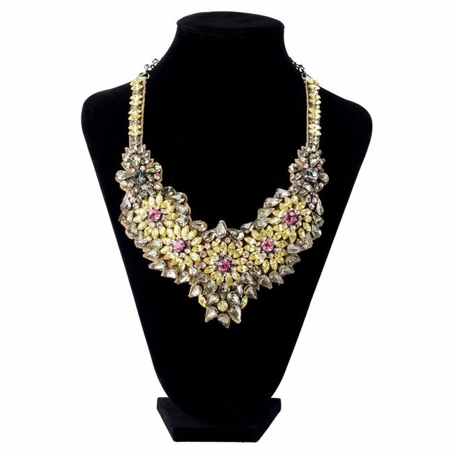 Item - Multi-color Women's Floral Crystal Collar Statement Necklace