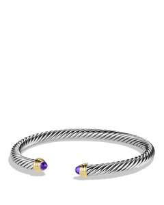 David Yurman 5mm Cable Classics Bracelet with Amethyst and Gold