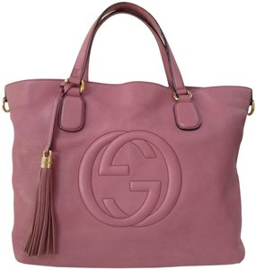 Gucci Gg Monogram Leather Tote in soho