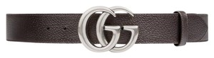 Gucci Gucci Leather Belt with Double G Buckle